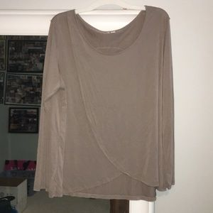 Tops - long sleeve shirt with flap. never worn